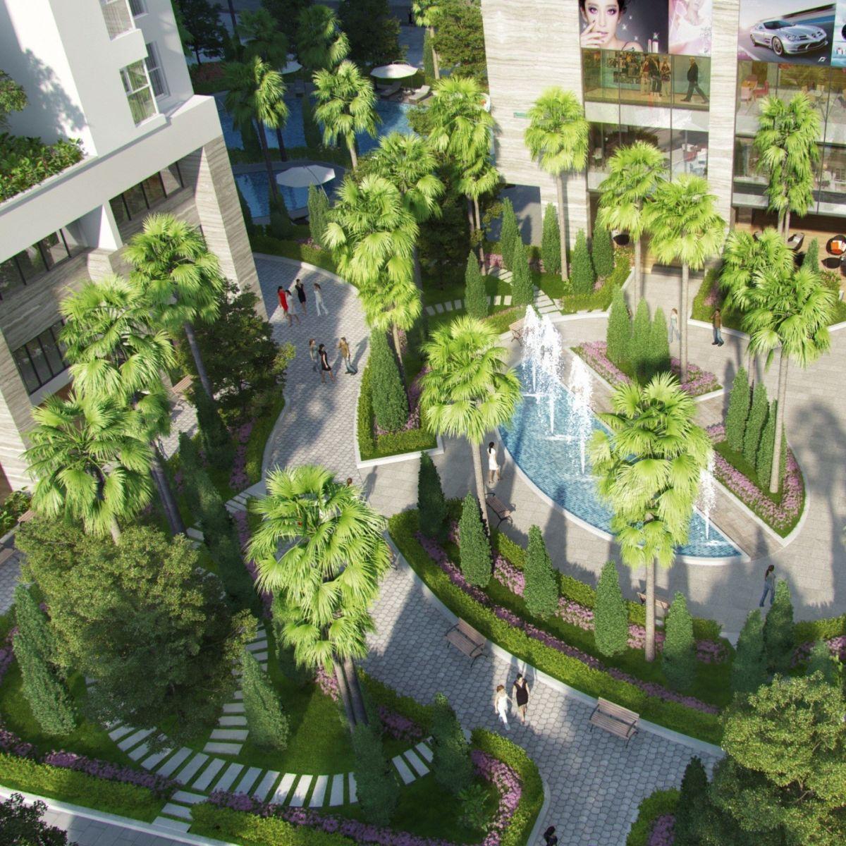 không gian cây xanh tại Riverside Park