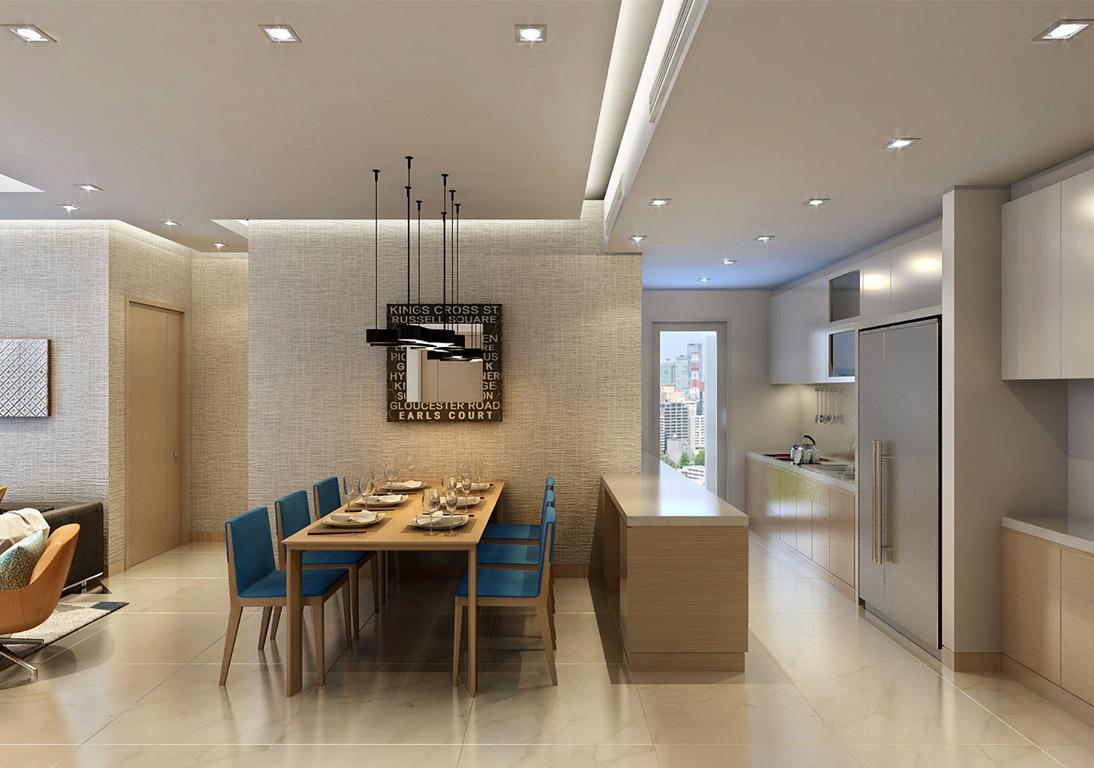 Phòng bếp căn hộ rivera park