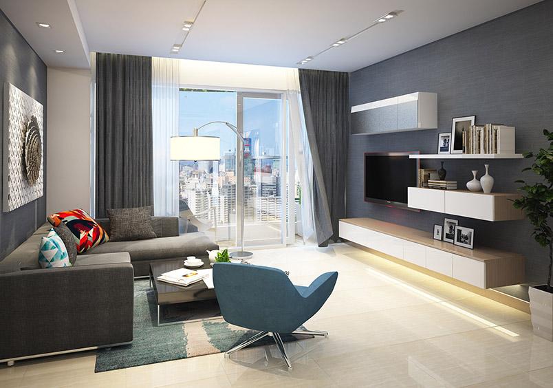 Phòng khách căn hộ rivera park