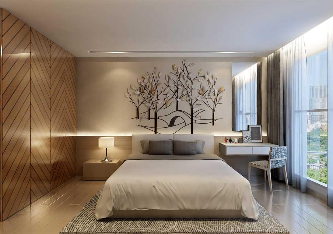 Phòng ngủ căn hộ rivera park