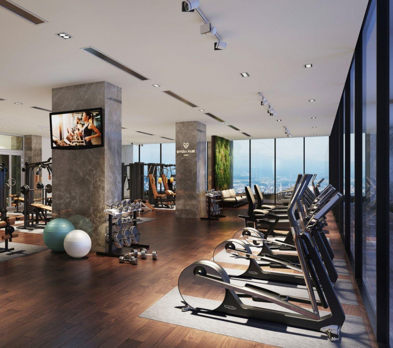 phòng tập gym dự án Rivera Park Hanoi